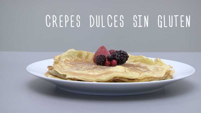 Crepes dulces sin gluten