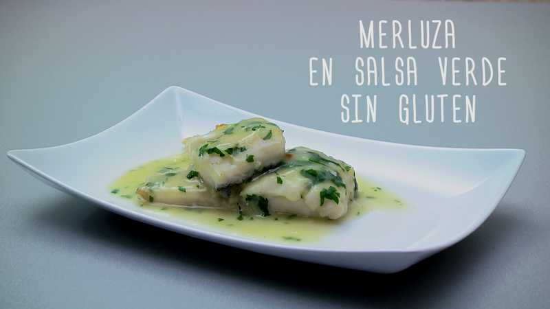 Merluza en salsa verde sin gluten