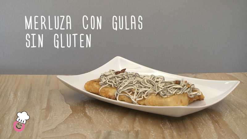 Merluza con gulas sin gluten