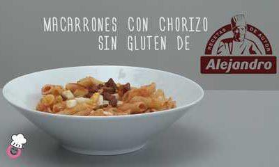 Macarrones con chorizo de Alejandro sin gluten