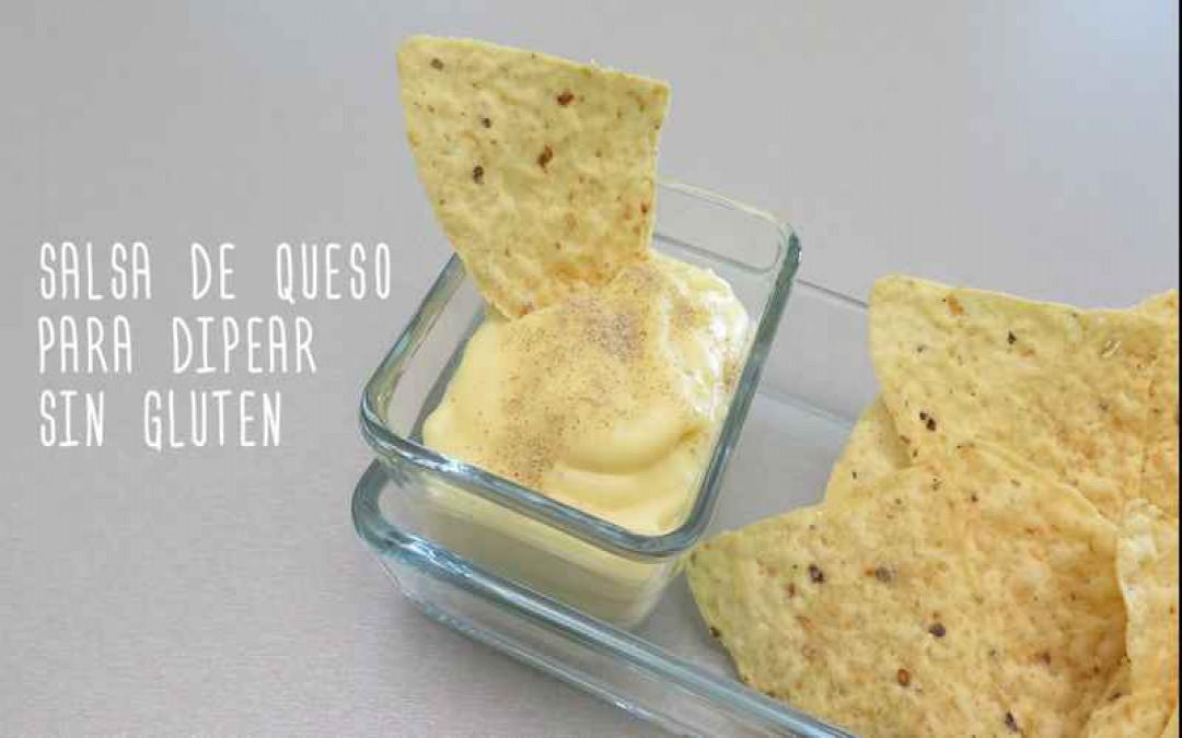Salsa de queso para dipear sin gluten