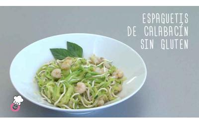 espaguetis de calabacín sin gluten