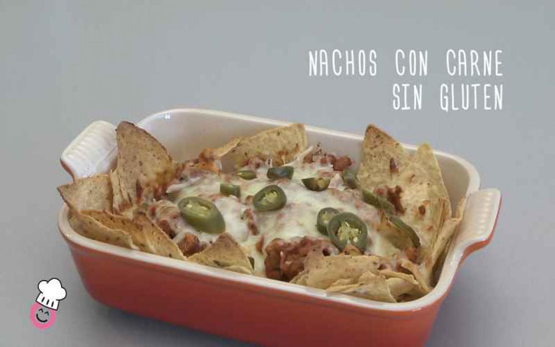 Nachos con carne sin gluten
