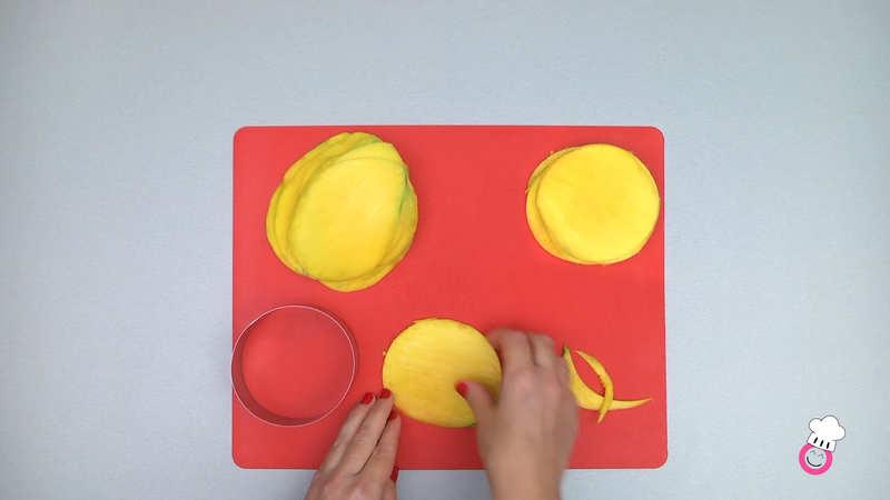 Milhojas de mango sin gluten