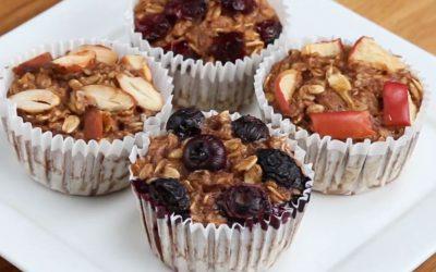 Muffins de plátano y avena sin gluten de Goodful