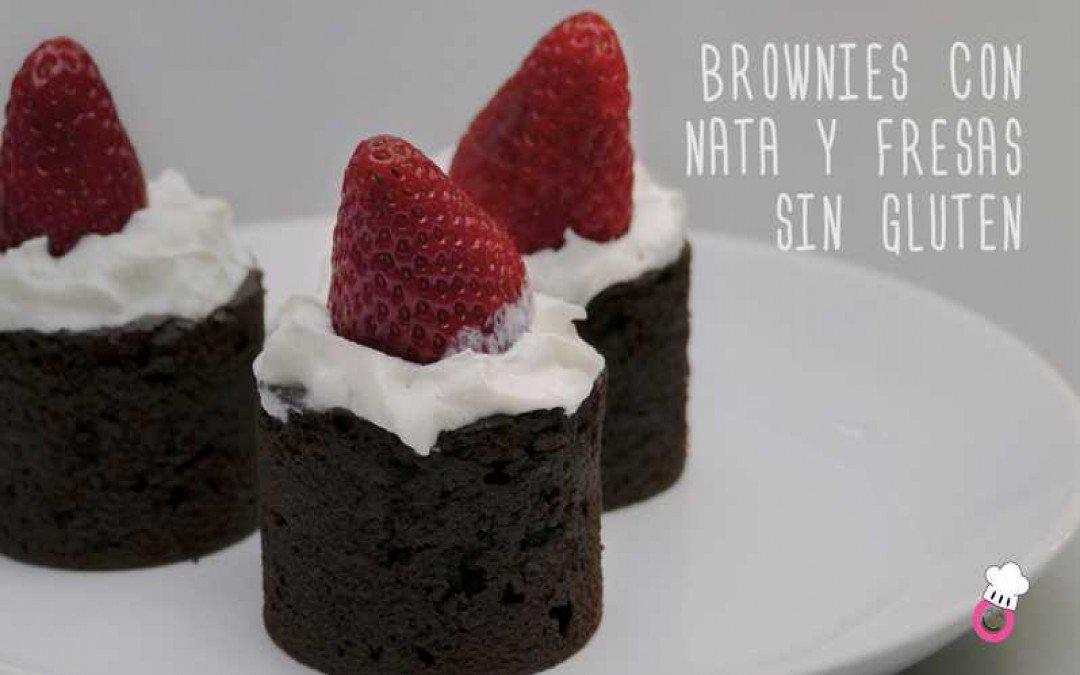 Brownies de Navidad sin gluten