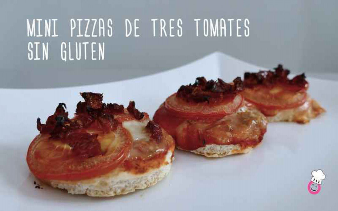Mini pizzas 3 tomates sin gluten