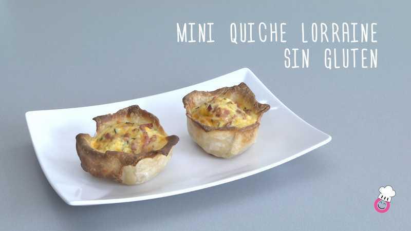 Mini quiche Lorraine sin gluten