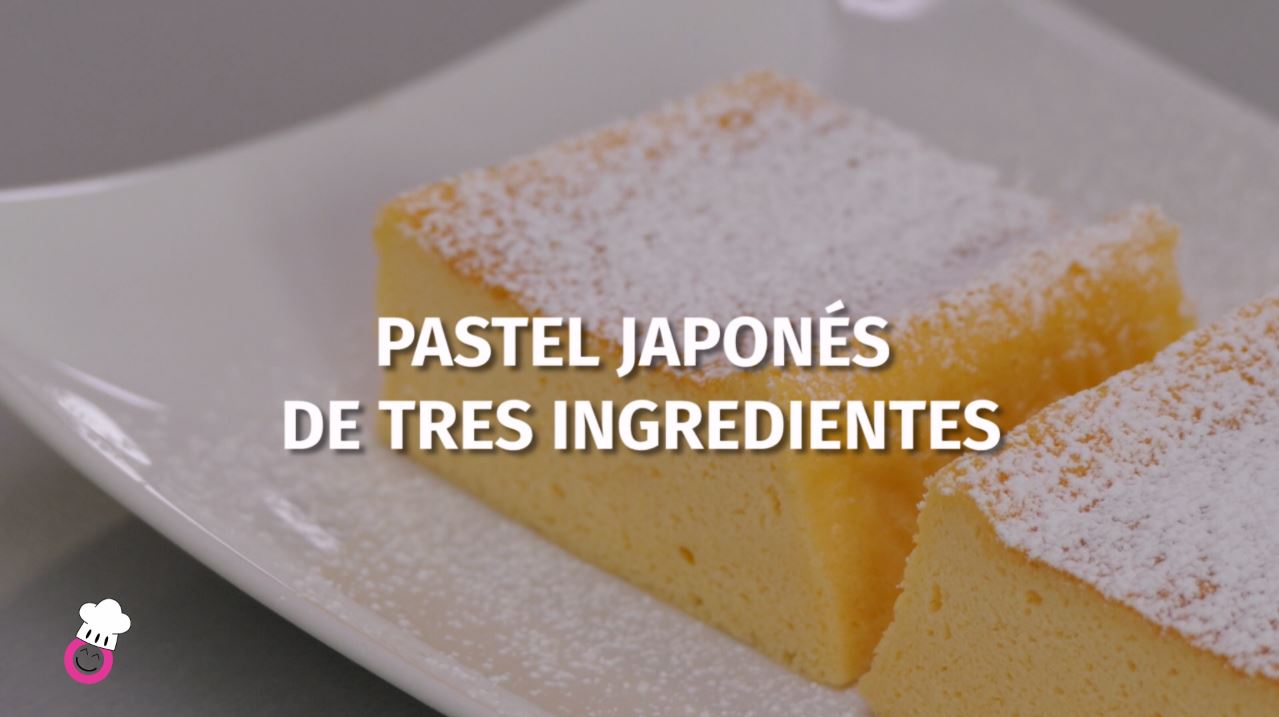 Pastel japonés de 3 ingredientes