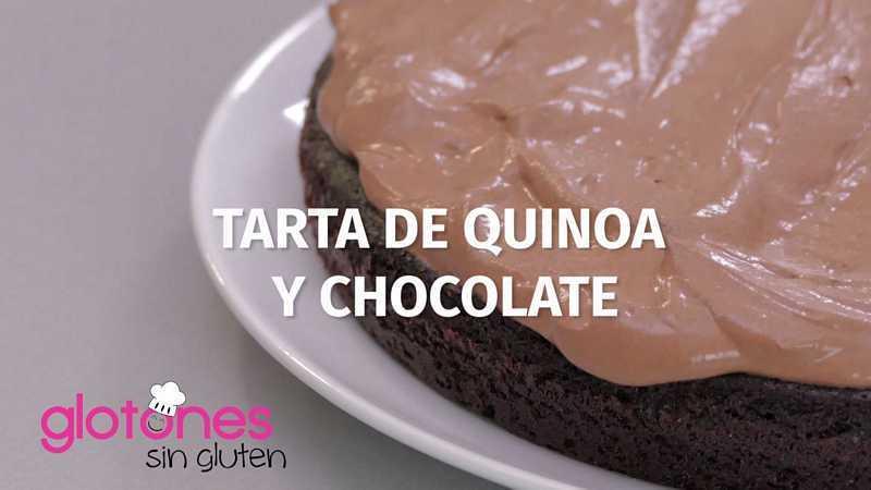 Tarta de  quinoa y chocolate