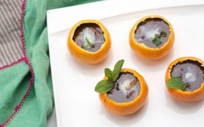 Mandarinas con chocolate sin gluten de Eva Arguiñano y Hogarmanía.