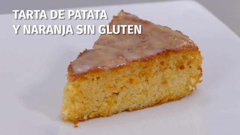 Tarta de patata y naranja sin gluten