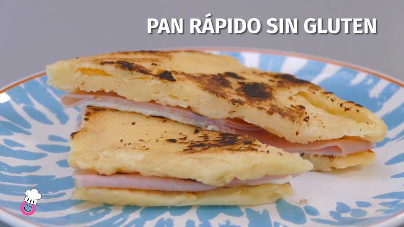 Pan rápido al microondas sin gluten