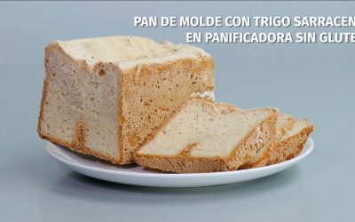 Pan de molde con trigo sarraceno en panificadora sin gluten
