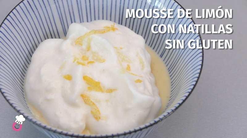 Mousse de limón con natillas sin gluten