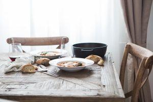 Mesa comedor contaminación cruzada sin gluten