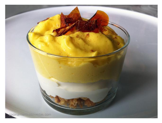 Cheesecake de mango en vaso sin gluten