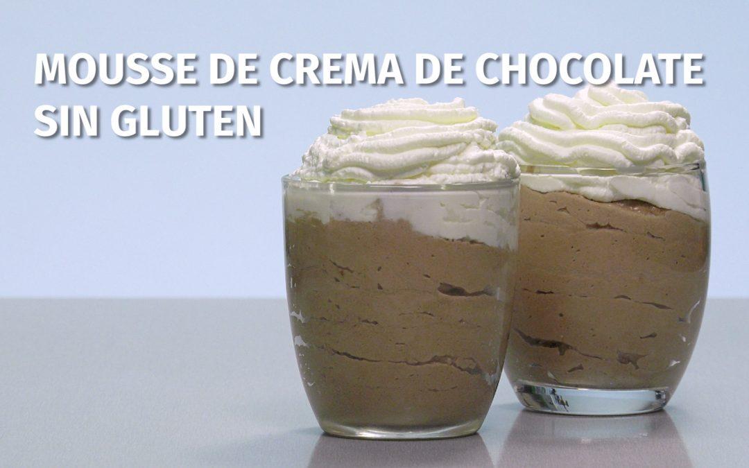 Mousse rápida de crema de chocolate sin gluten