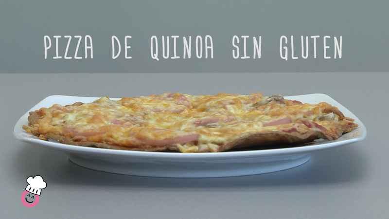 Receta de pizza de quinoa.
