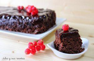 Bizcocho de chocolate al microondas sin gluten