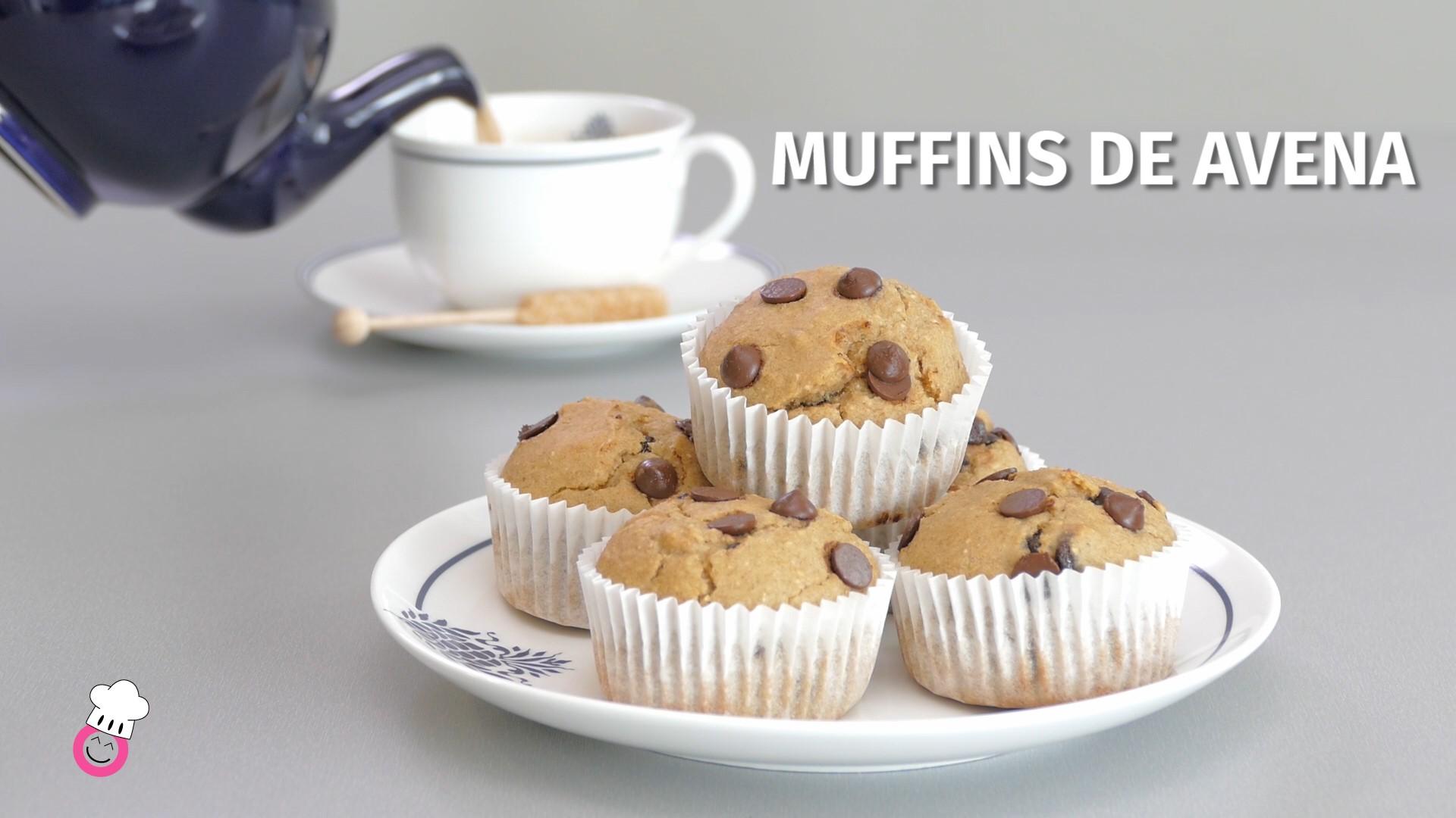 Muffins de avena sin gluten